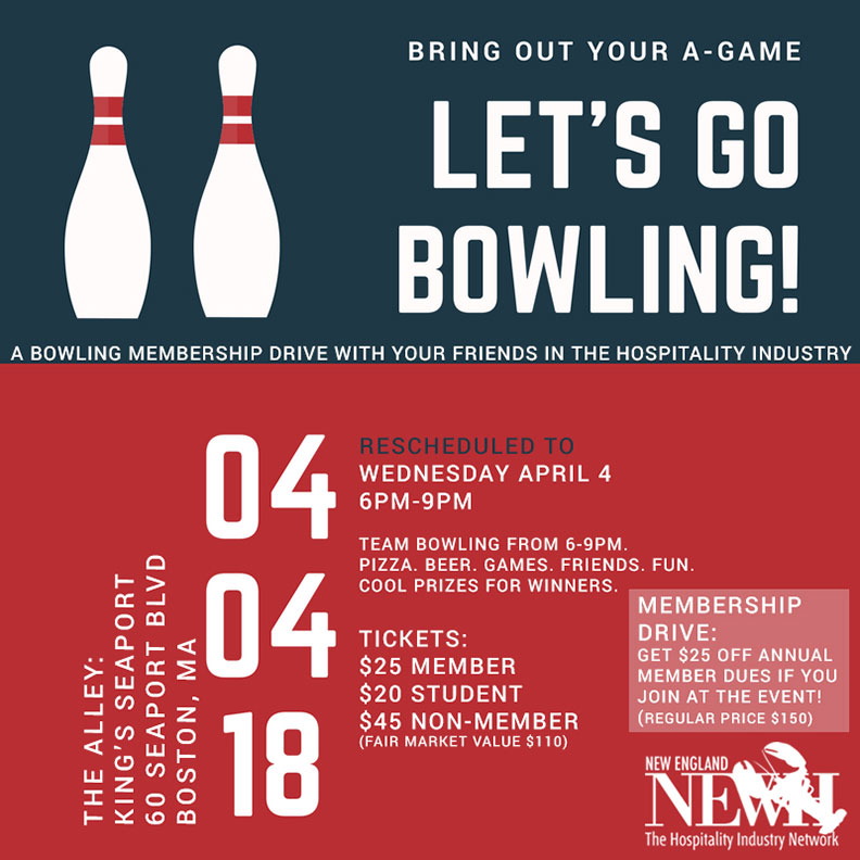 New England Region NEWH Membership Drive Bowling Event NEWH