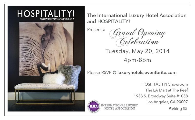 international luxury hotel association and hospitality grand opening celebration