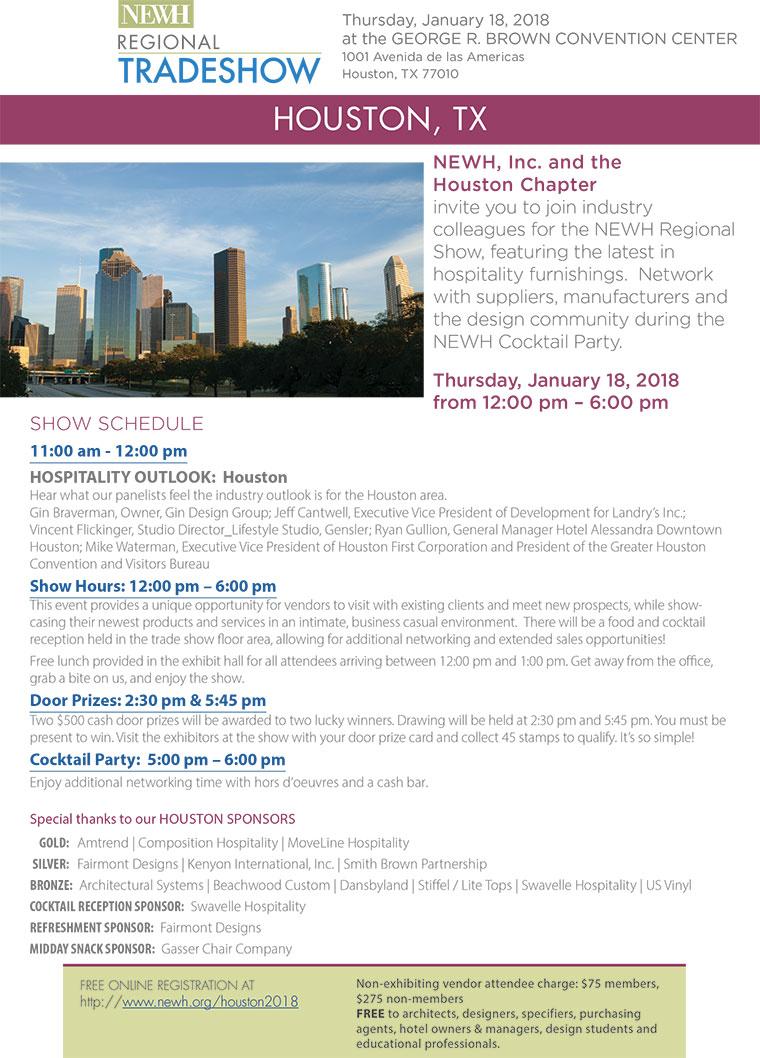 Houston NEWH Regional Tradeshow - NEWH