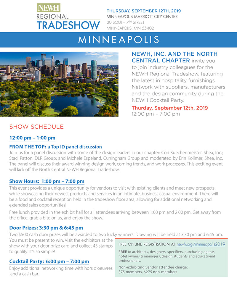 Minneapolis NEWH Regional Tradeshow - NEWH